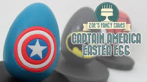 Easter Egg Decorating Batman by Captain America Easter Egg Marvel Superhero Chocolate Eggs Youtube