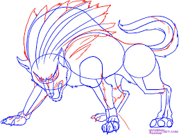 how to draw wolf link step by step video game characters pop