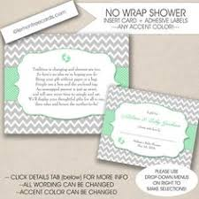 gift registry for bridal shower no wrap bridal or baby shower insert and label by lemontreecards