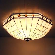 Yellow Glass Ceiling Light Tiffany Ceiling Light A Solution For Any Environment Lighting