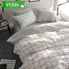 amazon com vclife queen full duvet cover set cotton bedding set