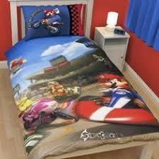 Mario Bros Bed Set Mario Kart Nintendo Ds Size Reversible Comforter 4