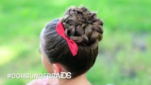cute girl hairstyles how to french braid pancaked bun of braids cute girls hairstyles video dailymotion