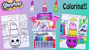 shopkins crayola coloring pages lippy lips with surprises