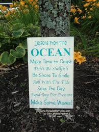 lessons from the ocean home decor wood board 9