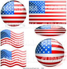 Americana Flags Americana Vector Clip Art Of A Patriotic Digital Collage Of