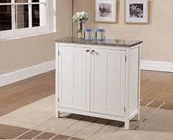 kitchen island with drawers amazon com brand white with marble finish top kitchen