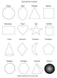 basic geometric shapes homeschool math pinterest geometric