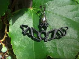 bat necklace pendant quilling halloween jewelry sweethearts and
