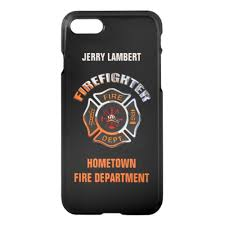 firefighter chrome and black name template iphone 7 case fire