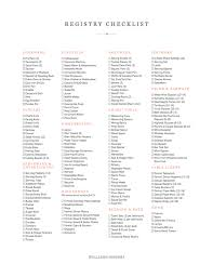wedding registry list downloadable registry checklist williams sonoma taste