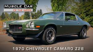 1970 Muscle Cars - muscle car of the week video 119 1970 chevrolet camaro z28 youtube