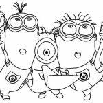 minions coloring pages getcoloringpages free minion