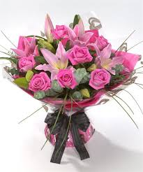 pink bouquet send pink bouquet uk buy flowers online fineflora