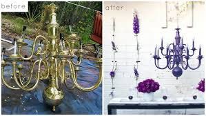 Painted Chandelier Nook And Nest Affordable Interior Decorating And Home Staging