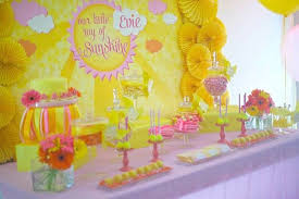 You Are My Sunshine Decorations Kara U0027s Party Ideas Little Ray Of Sunshine 1st Birthday Party Via
