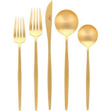 gold flatware rental matte gold flatware wholesale oslo rental throughout