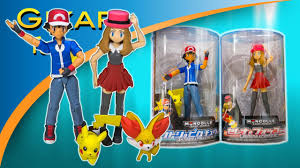 pokemon toys ash and pikachu serena and fennekin model sets by