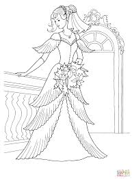 beautiful princess and peacock coloring page at coloring pages