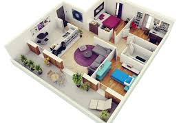 Home Plans With Interior Pictures 3 Bedroom Apartment House Plans
