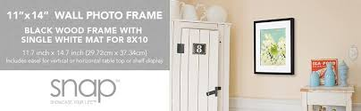 29 Inch Interior Door Amazon Com Snap 11x14 Black Wood Frame With 8x10 White Mat