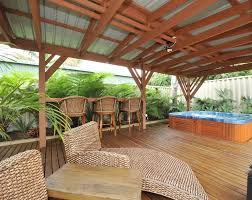 Tropical Backyard Designs Tub Deck Ideas Landscape Tropical With None Beeyoutifullife Com