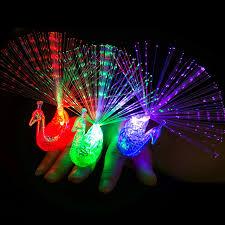 led light up rings 1 pc colorful peacock finger light led light up rings kids