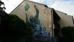 a mega list of fintan magee murals in sydney emergency flood drop fintan magee street art mural newtown