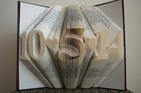 paper anniversary gift folded book paper anniversary gift for him or date