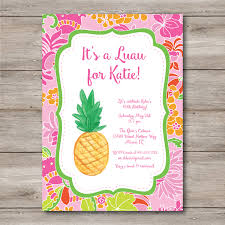 Invitation Cards To Print Luau Invitation With Editable Text To Print At Home Diy Luau