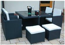 Outdoor Rattan Garden Furniture by Outdoor Rattan Furniture Cube Sets Furniture Sets Ebay