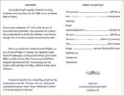 funeral programs wording 8 exles of funeral programsagenda template sle agenda