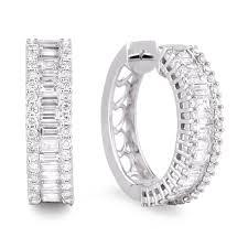 hoop diamond earrings diamond hoop earrings sge194 anaya jewellery collection