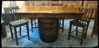Dining Room Rough Country Rustic Furniture - Barrel kitchen table
