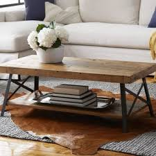 Industrial Rustic Coffee Table Apartment Size Coffee Tables Wayfair