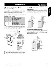 gas fireplaces fpi direct vent system flex snorkel