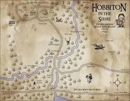 The Hobbit Map Map Hobbiton Page