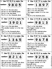 decimals place value enchantedlearning com