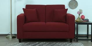 Buy Two Seater Sofa Buy Alba Two Seater Sofa In Garnet Red Colour By Casacraft Online