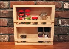 Wooden Spice Rack Wall Unfinished Wood Spice Rack Wall Mount Spice Rack