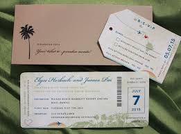 wedding invitations island royal blue green island sunset hawaiian map antique