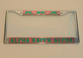 sorority picture frame kappa alpha mirrored license frame sorority name