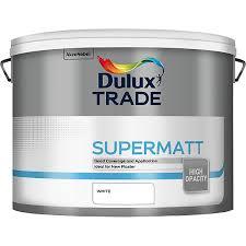 dulux trade supermatt emulsion paint white 10l travis perkins