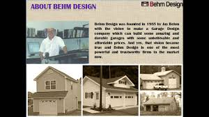 creative garage plans with behm design youtube