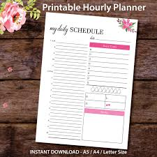 printable hourly planner printable hourly planner printable daily schedule hourly