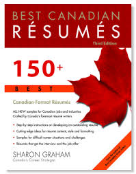 Canadian Sample Resume by Best Canadian Resumes Sharon Graham Softcover Book 150 Canadian