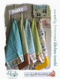 jenny of elefantz tutorial sweet kitchen towels