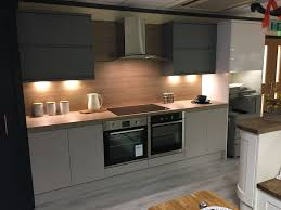 lovely modern slate grey kitchen in an apartment perfect styling