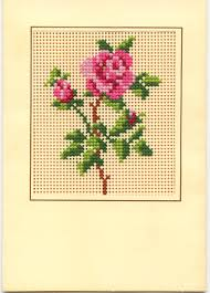 counted cross stitch card marges8 s