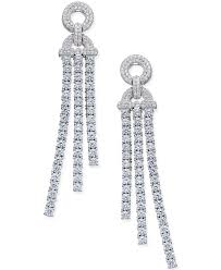 diamond dangle earrings lyst macy s diamond dangle drop earrings 5 ct t w in 14k